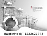 architecture of eco and world... | Shutterstock .eps vector #1233621745