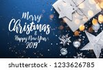 merry christmas and happy...   Shutterstock . vector #1233626785