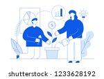 vector flat line style business ... | Shutterstock .eps vector #1233628192