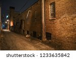 dark and scary urban city alley ... | Shutterstock . vector #1233635842