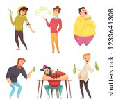 addicted lifestyle. alcoholism...   Shutterstock .eps vector #1233641308