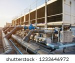A Set Of Cooling Towers In A...