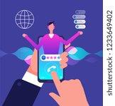 virtual assistant. customer... | Shutterstock .eps vector #1233649402