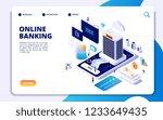 online banking isometric... | Shutterstock .eps vector #1233649435