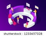 isometric concept of people... | Shutterstock .eps vector #1233657328