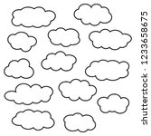 cloud line icon set  isolated... | Shutterstock .eps vector #1233658675