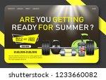 gym promo landing page website... | Shutterstock .eps vector #1233660082