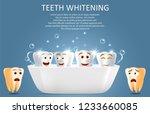 teeth whitening vector poster... | Shutterstock .eps vector #1233660085