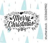 merry christmas. typography.... | Shutterstock .eps vector #1233660982