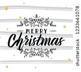 merry christmas. typography.... | Shutterstock .eps vector #1233661078