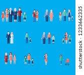 big set of healthy active... | Shutterstock .eps vector #1233662335