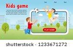 vector concept image happy kids ... | Shutterstock .eps vector #1233671272