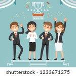 winner hard work. easy victory... | Shutterstock .eps vector #1233671275