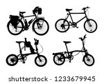 silhouette set of  vintage bike ... | Shutterstock . vector #1233679945