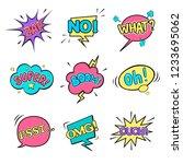 set of isolated comic speech...   Shutterstock .eps vector #1233695062