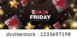 black friday sale banner layout ... | Shutterstock .eps vector #1233697198