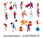 circus performer profession... | Shutterstock .eps vector #1233703672