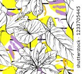 tropical  modern stripes motif. ...   Shutterstock .eps vector #1233705445