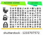 vector icons pack of 120 filled ... | Shutterstock .eps vector #1233707572