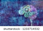 creative brain as a colorful...   Shutterstock . vector #1233714532