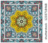 decorative colorful mandala... | Shutterstock .eps vector #1233718468