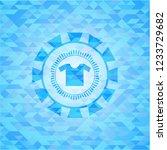 shirt icon inside realistic sky ... | Shutterstock .eps vector #1233729682