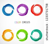 color circles set | Shutterstock .eps vector #1233731758