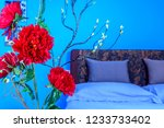 modern bedroom decoration with... | Shutterstock . vector #1233733402