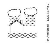 flooded house icon. trendy... | Shutterstock .eps vector #1233737452