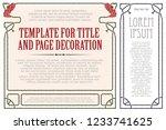 vector template flyer ... | Shutterstock .eps vector #1233741625