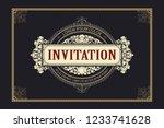 vector template flyer ... | Shutterstock .eps vector #1233741628