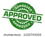 approved rubber stamp | Shutterstock .eps vector #1233743335