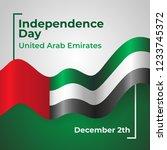 united arab emirates...   Shutterstock .eps vector #1233745372