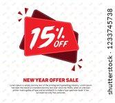 15 percent off 15  off 15 ... | Shutterstock .eps vector #1233745738