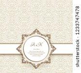 round jewellery frame on...   Shutterstock .eps vector #1233747478