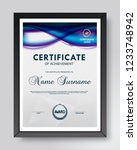 certificate and diploma... | Shutterstock .eps vector #1233748942