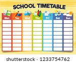 school timetable template  a... | Shutterstock .eps vector #1233754762