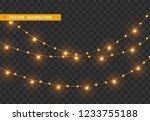 christmas decorations  isolated ... | Shutterstock .eps vector #1233755188