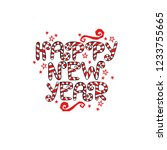happy new year. lettering. font ... | Shutterstock .eps vector #1233755665