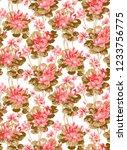 floral seamless pattern... | Shutterstock . vector #1233756775