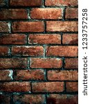 bare  exposed and grunge brick... | Shutterstock . vector #1233757258