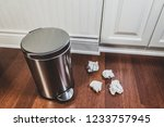 household trash and garbage... | Shutterstock . vector #1233757945