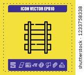 train rails icon vector   Shutterstock .eps vector #1233758338