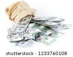 heap of one hundred dollars... | Shutterstock . vector #1233760108