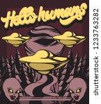 hello humans. vector hand drawn ...   Shutterstock .eps vector #1233763282