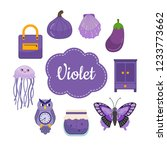 learn colors. violet. different ... | Shutterstock .eps vector #1233773662