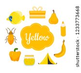 learn the primary colors.... | Shutterstock .eps vector #1233773668