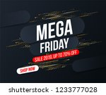 abstract mega friday banner... | Shutterstock .eps vector #1233777028