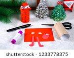 christmas santa claus in...   Shutterstock . vector #1233778375