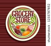 vector logo for grocery store ... | Shutterstock .eps vector #1233787852